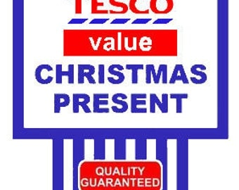 TESCO VALUE Christmas Present Tshirt - All sizes and lots of colours available