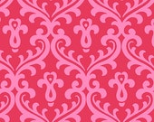 Joyful Pink on Red Damask, by Quilted Koala, from Andover fabrics, 1 yard