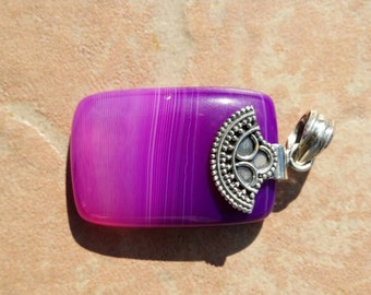 Botswana Purple Agate Pendant