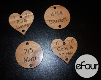 Additional Date Tags For Our Laser Engraved Family Celebrations Board