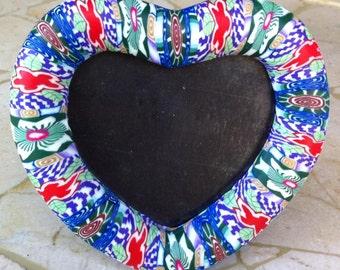Vintage Heart-Shaped Fimo Frame