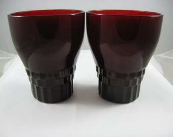 Anchor Hocking Royal Ruby Red Windsor Tumblers
