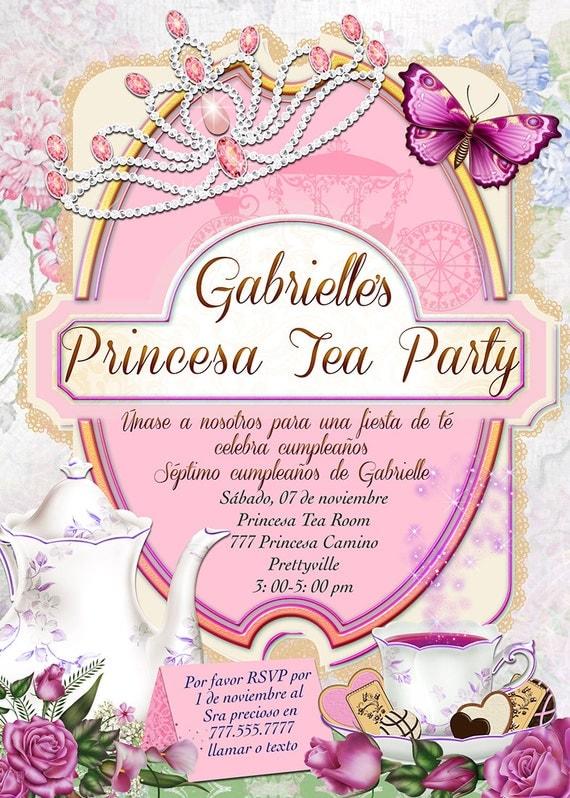 Invitaciones de la princesa cumpleaños de las muchachas