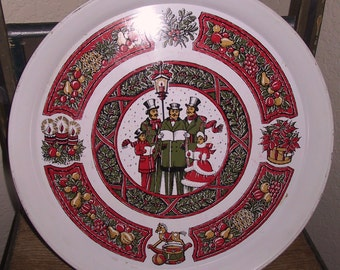 Vintage Christmas Carolers Serving Tray