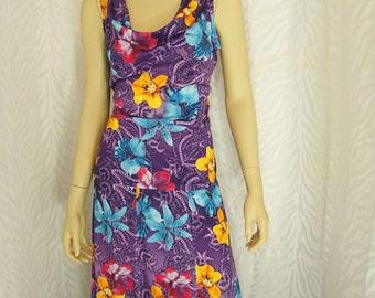Purple 2PC Floral Skirt Set