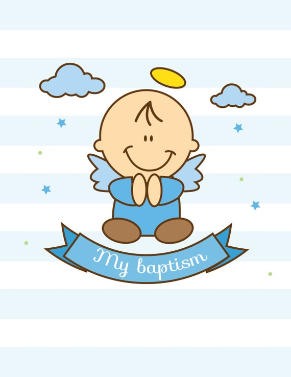 Items similar to baby boy baptism vector on Etsy