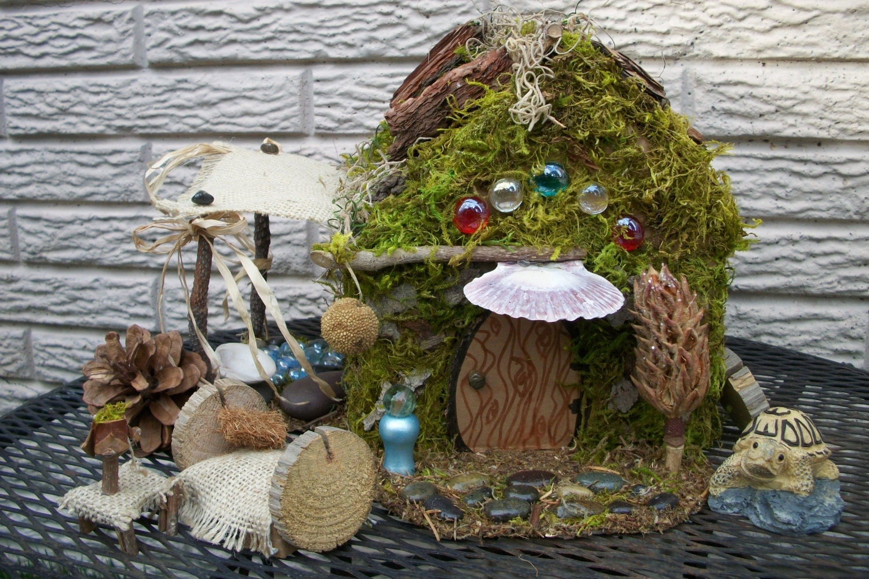 Garden house kit - Miniature Fairy House Kit Diy With Fairy Animal Woodland Garden Eco Friendly The Box Is Wrapped