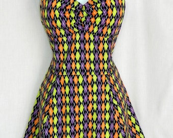Harlequin Jester dress. Custom fit