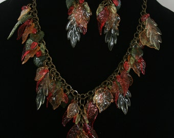 Autumn Splendor necklace and earrings