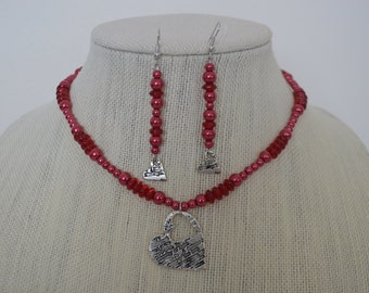 Sweetly Romantic! Necklace and earrings
