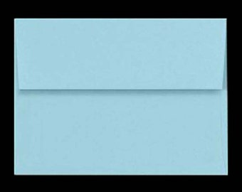 25 A7 Envelopes Baby BLUE PASTEL for 5x7 DIY Blanks - Cards Invitations Announcements Parties with Square Style Flap Good Quality