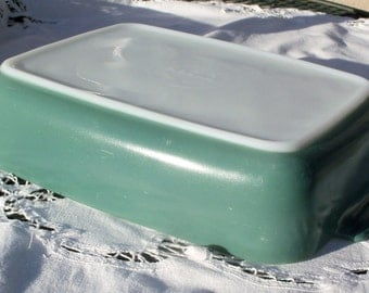Pyrex 507 Promotional Heinz Soft Forest Green/Teal Baking Dish, 1953