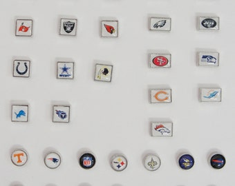 Floating Locket Charms- Sports Teams- Fits Origami Owl, living locket and others.