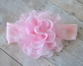 Lace Flower Headband, Infant Headband, Baby Headband