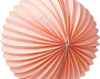 """12 Inch Accordion """"Pink"""" Paper Lanterns for Weddings. Celebrations. Showers. Parties. Events."""