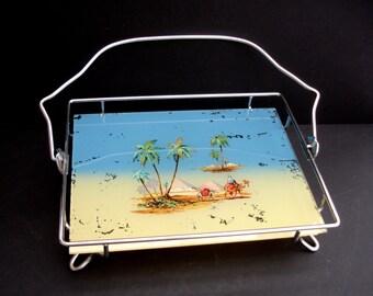 Art Deco Cake Stand featuring Camels in the Desert Cake Plate Vintage Platter Vintage Cake Plate vintage Decorative Housewares