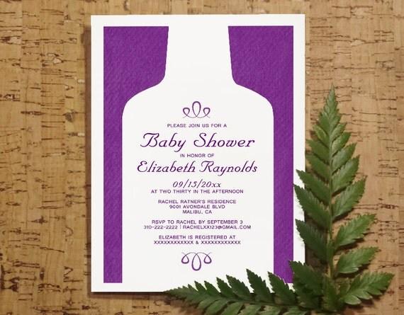 vintage wine bottles baby shower invitation by invitationsnob. Black Bedroom Furniture Sets. Home Design Ideas