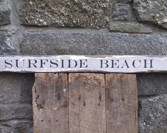 Summer Surfside Beach Nantucket beach house sign distressed barn wood READY TO SHIP
