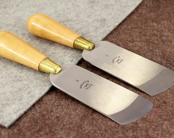 Oblique Skiving/Paring Knife Vergez Blanchard/Leather Cutting Tool/Edge Skiving Tool/Skiving Knife/Leather Paring Knife/Roughling Knife