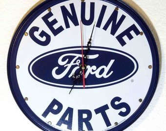 Ford Parts Wall Clock, 11.75 diameter - New