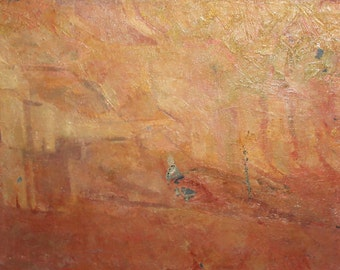 Bulgarian art vintage abstract oil painting