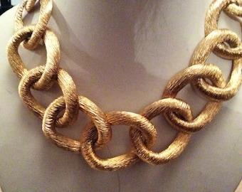 LES Bernard chain link necklace.