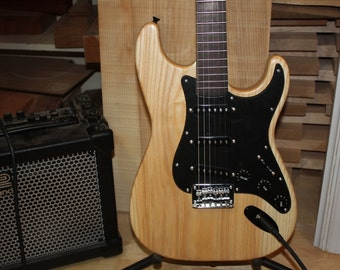 Electric Guitar. Dubova Custom Guitar. Strat-Style Electric Guitar.