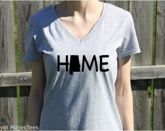 Alabama Home Shirt, Alabama Vneck Shirt