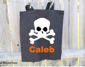 Trick or Treat Bag, Personalized, Custom Halloween bag