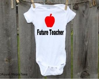 Future Teacher Onesies®, Teacher Baby Gift, Teacher Baby Shower