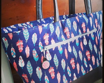 Willow Tote Bag PDF Sewing Pattern Leather and Fabric Sewing