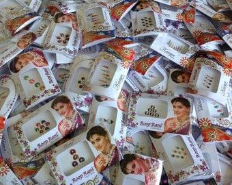 100 Packs Bindi, Wholesale Bindi Packs, Face Jewels, Belly dance  bindi,  Indian Bindi Packs, Self adhesive Bindi Packs, Bindi Dots