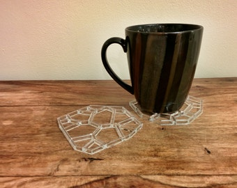 Geometric Recycled Coasters