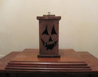 Wooden Halloween Pumpkin Lantern ON SALE !!!!