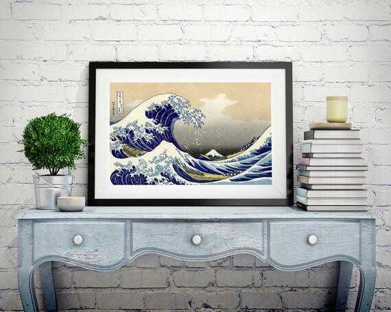 art japonais tirage poster vieux imprime mur affiche art. Black Bedroom Furniture Sets. Home Design Ideas