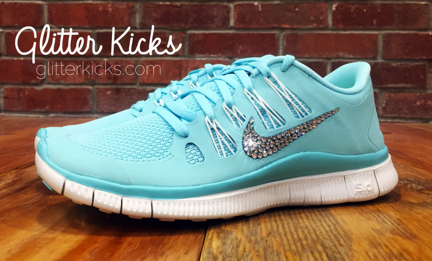 8dfa2f1e6dbea BLING NIKE FREE RUN 5.0 TIFFANY BLUE BLINGED OUT SHOES - GLITTER KICKS  BLING NIKES WITH SWAROVSKI CRYSTAL RHINESTONES BLINGED SHOES on The Hunt