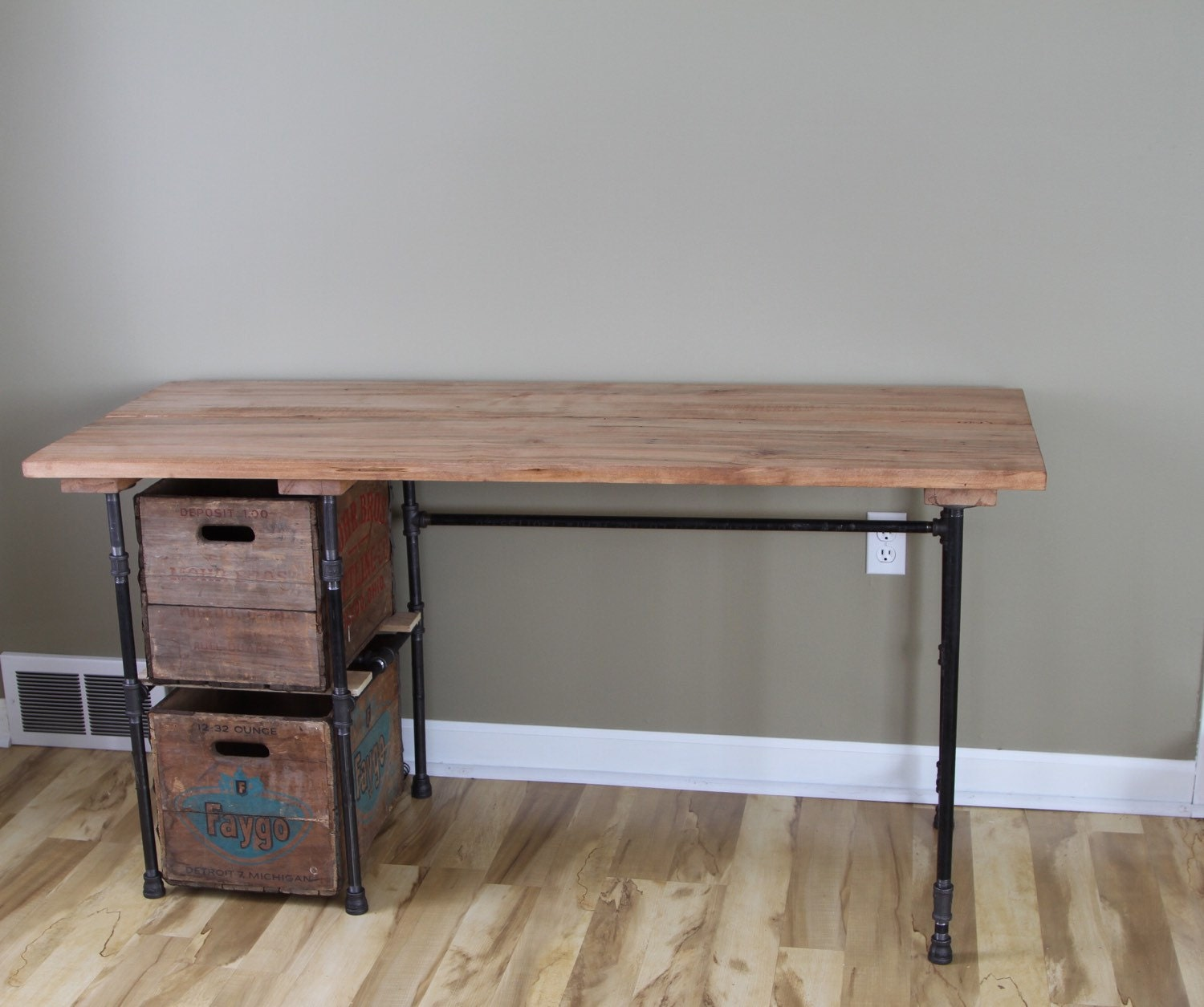 Sturdy Statements Customizable Reclaimed Wood Desk With