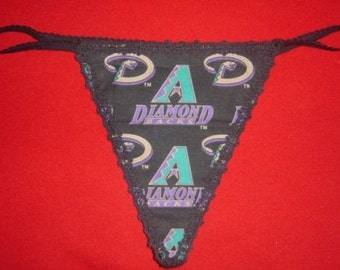 Womens ARIZONA DIAMONDBACKS G-String Thong Female Mlb Lingerie Baseball Underwear