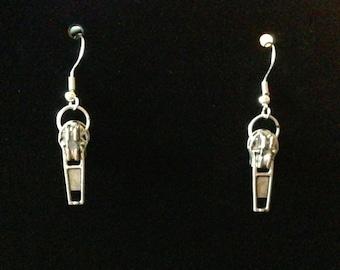 Silver Zipper Earrings