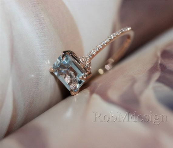 Light Pink Diamond Wedding Band