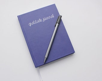 gratitude journal - simple navy blue gratitude hardcover diary