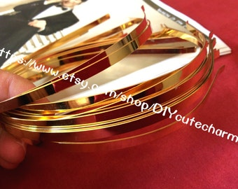 20 gold 5mm Stainless steel hair Headbands