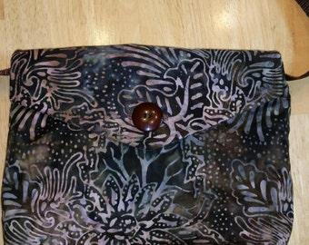 Purse - Brown & Tan Batik
