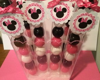 6 Disney Minnie Mouse - Birthday Party Favor Gumball Candy