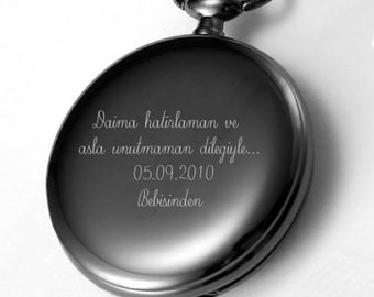 What To Engrave On Wedding Gift For Husband : Pocket Watch Necklace - Custom Engr aved Message ...