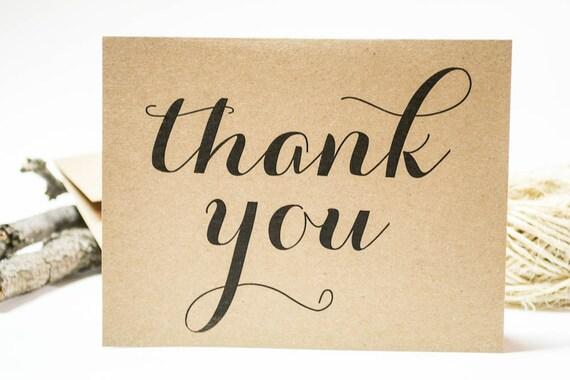 hnliche artikel wie rustikale hochzeit dankeskarten kraft danken ihnen karten vintage. Black Bedroom Furniture Sets. Home Design Ideas