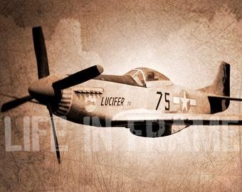 Fighter plane, World War II, Vintage, Photography