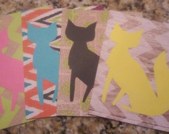 Foxy Postcard Set of 4