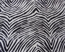 """Springs Creative Products Cotton Duck Fabric Rustic Zebra Pattern 45""""  x  54"""""""