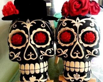 Sugar Skull Couple - Bride and Groom